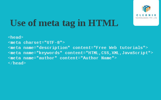 Use of meta tag in HTML